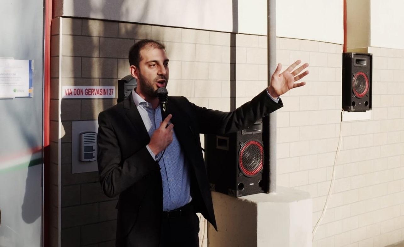 Antonio Salinari, il giorno dell'inaugurazione di Casa Teresa Bonfiglio