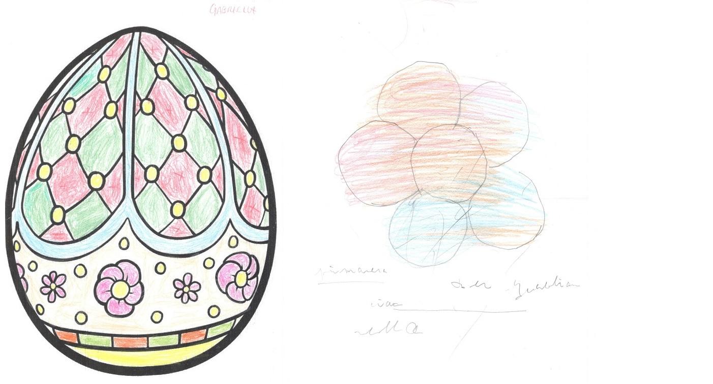 Due disegni pasquali di Ornella e Gabriella