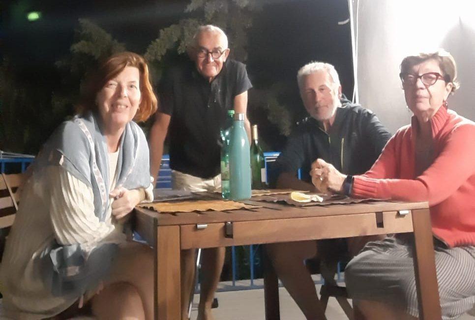 A cena con Marina e Paola